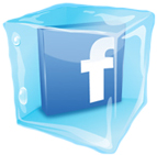 Facebook logo in an ice cube Opens in new window