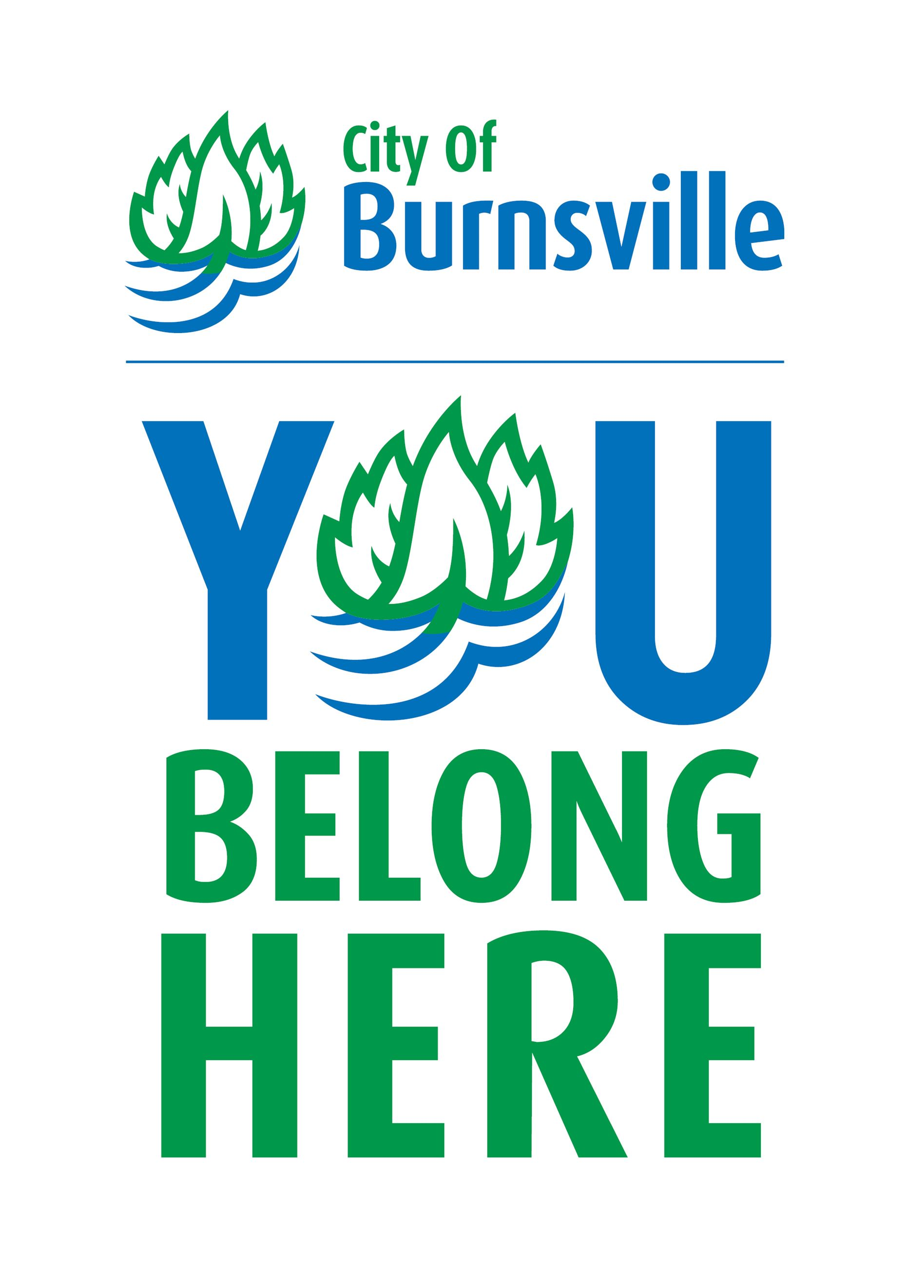 City of Burnsville logo. Text: You Belong Here